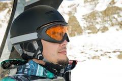 jeździecki chairlift snowboarder Zdjęcia Stock