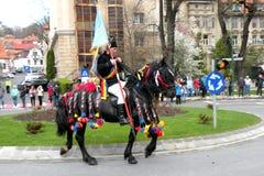 Jeźdzowie w w centrum Brasov Zdjęcia Stock