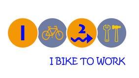 Je fais du vélo pour travailler Images stock