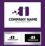 Je marque avec des lettres Logo Design Vector Business Card Photos libres de droits