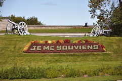 Je me souviens, official motto of Quebec Royalty Free Stock Photography