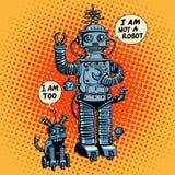 Je ne suis pas un robot ai dit la science-fiction d'avenir de chien Images libres de droits
