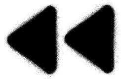Jeûnent l'icône arrière de jet de graffiti de media dans le noir au-dessus du blanc illustration libre de droits