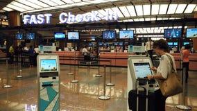 Jeûnez signent l'aéroport Singapour de Changi Photographie stock libre de droits