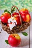 Je pommes d'amour Photos libres de droits