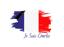 Je suis charlie french flag illustration design Stock Images