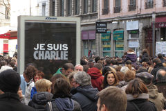 Je suis Charlie in Lyon Royalty Free Stock Photo