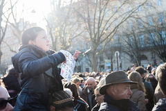Je suis Charlie manifestation Royalty Free Stock Photography