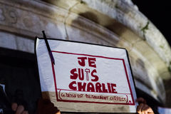 Je suis charlie Royalty Free Stock Photography
