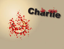 Je suis Charlie. Vector graphic illustration for Je suis Charlie themed articles. Royalty Free Stock Photo