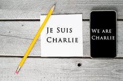 Je suis Charlie Stock Photo