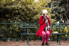 Je suis froid photographie stock