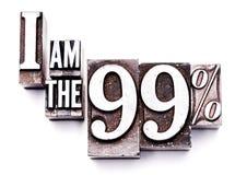 Je suis le 99% Images libres de droits