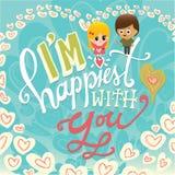 Je suis le plus heureux avec vous Image libre de droits