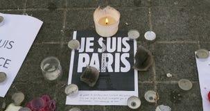 Je Suis Paris sign stock video