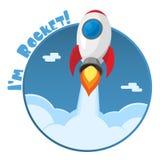 Je suis Rocket ! Autocollant Illustration de vecteur illustration libre de droits