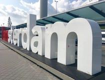 Je suis signe d'Amsterdam Photographie stock
