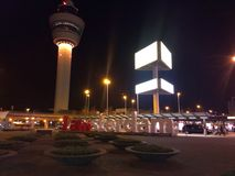 Je suis signe d'Amsterdam devant l'aéroport de Schiphol Images libres de droits