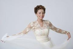 Je suis une jeune mariée heureuse Images libres de droits