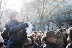 Je suisCharlie manifestation Royaltyfri Fotografi