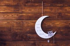 Je t'aime à la lune et au dos Image libre de droits