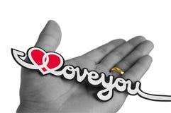 Je t'aime Photo stock