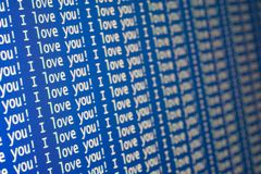 Je t'aime ! Image stock