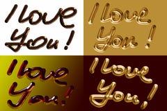 Je t'aime ! illustration de vecteur
