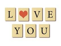 Je t'aime. Images libres de droits