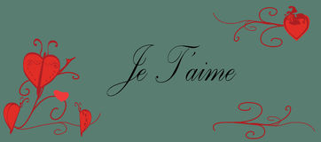 Je T'aime Image stock