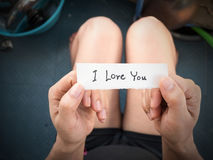 Je t'aime Photo stock