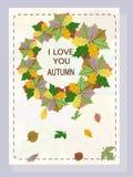 Je t'aime automne Photos libres de droits