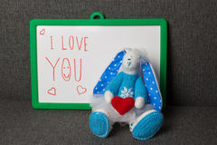 Je t'aime Bunny Soft Toy Images stock