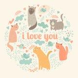 Je t'aime carte Photo stock
