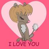 Je t'aime carte de valentine Photo libre de droits