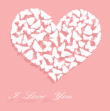 Je t'aime. Carte du jour de Valentine Photo stock