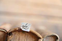 Je t'aime - carte heureuse de jour de valentines Photo stock