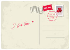 'Je t'aime' carte postale Photographie stock