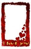 Je t'aime carte (verticale) Images libres de droits