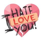 Je t'aime Coeur cassé Image libre de droits