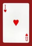 Je t'aime concept de carte de jeu Images stock