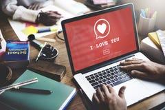 Je t'aime concept Romance de passion d'amour de coeur de Valantine Photos libres de droits