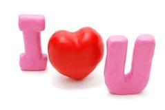 Je t'aime (diagonale 2) Photo stock