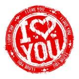 Je t'aime estampille. Images libres de droits