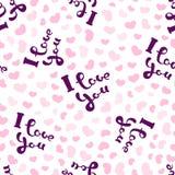 Je t'aime et coeurs Photo libre de droits