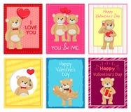 Je t'aime et moi Teddy Bears Vector Image libre de droits