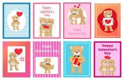 Je t'aime et moi Teddy Bears Vector Photographie stock libre de droits
