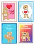 Je t'aime et moi Teddy Bears Vector Photo libre de droits