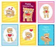 Je t'aime et moi Teddy Bears Vector Photos libres de droits