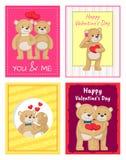 Je t'aime et moi Teddy Bears Vector Images libres de droits